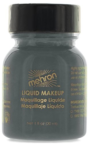 70's Costume Makeup (Mehron Makeup Liquid Face & Body Paint, MOSTER GREY - 1oz)