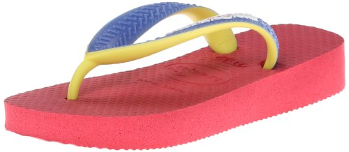 Price comparison product image Havaianas Top Mix Flip Flop (Toddler / Little Kid), Neon Pink, 23 / 24 BR (8 M US Toddler)