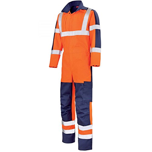 Blue y Fluo Orange Hivi Lafont Visibility High Adolphe Jumpsuit Navy 4qAY0