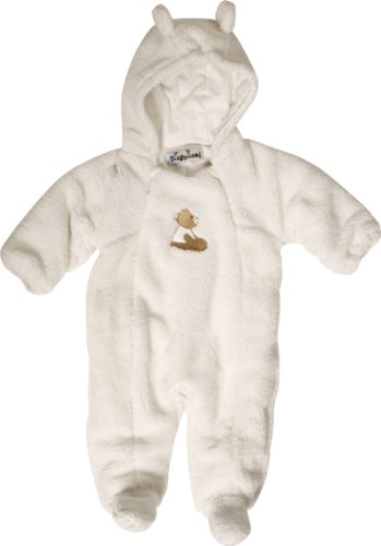 Playshoes Unisex - Baby Overall Kuschliger Teddyfleece-Overall von Playshoes, Art. 421001 (passend dazu Teddyfleece-Handschuhe 422012), Gr. 62, Weiß (900 original)