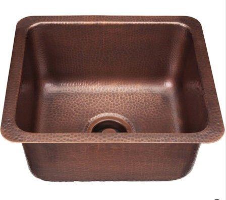 Rectangular Copper Bar Sink - 7