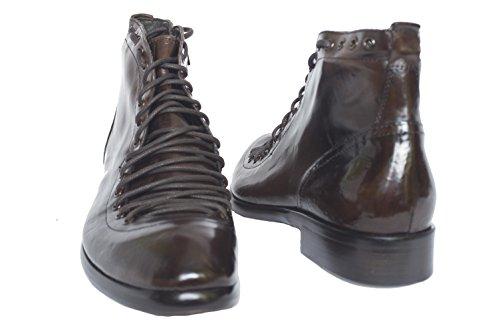 Jo Ghost 1838m Italienska Bruna Boots Med Dragkedja Och Snörning
