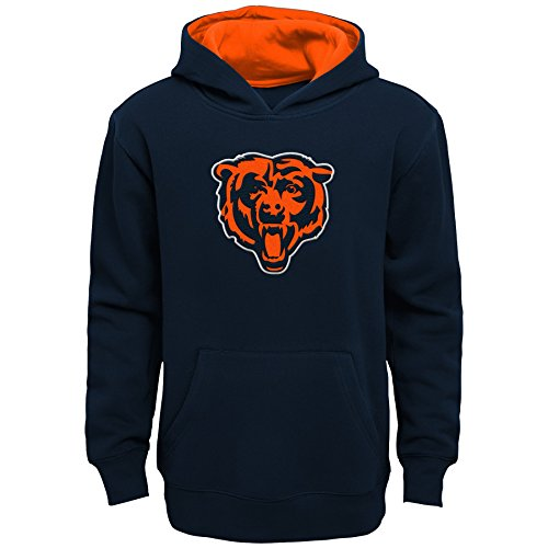 Bears Youth Apparel - NFL Chicago Bears Kids & Youth Boys Prime Pullover Fleece Hoodie, Deep Obsidian, Kids Medium(5-6)