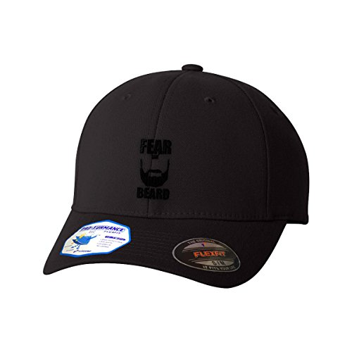 Speedy Pros Fear The Beard Embroidery Design Flexfit Pro-formance Branded Hat Cap - Black, - Beards That Look Good