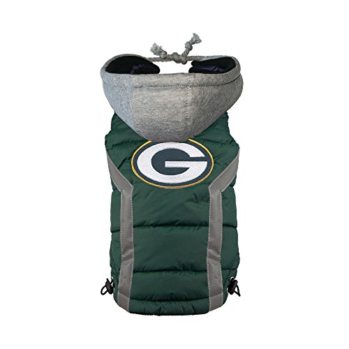 NFL Green Bay Packers Dog Puffer Vest, Large
