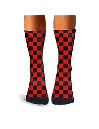 Men's Donuts patterns compression sweat-absorbent funny socks bike loafer calf socks