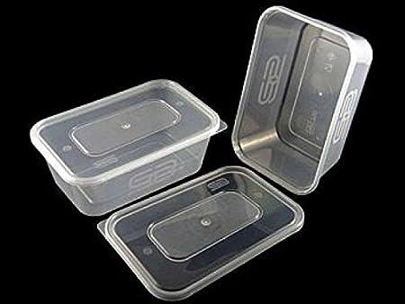 650 ml microondas envases de plástico resistente Satco + tapas x ...