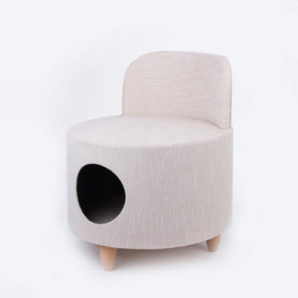 ソファ猫の巣箱、セミクローズド猫スクラッチボード、四季のユニバーサル、小さな猫ベッド、猫の巣箱、人々ペット二重使用、49.0X49.0 CmX65.0 Cm B07QM49WFB Pink  Pink