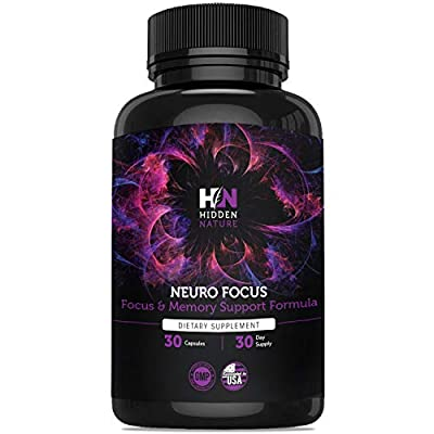 Brain Supplement & Nootropic for Focus, Memory, Mood Support, Brain Boost, Anxiety Relief ? Energy Pills, Serotonin & Dopamine Booster with Ginkgo Biloba, Bacopa Monnieri and More Natural Nootropics