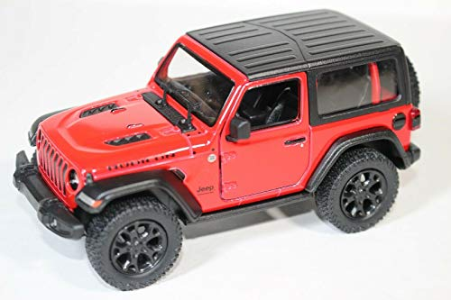 2018 Jeep Wrangler Rubicon Hard Top Red - Kinsmart -