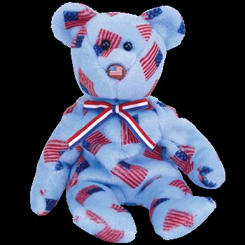 (TY Beanie Baby - UNION the Bear (w/ USA Flag Nose))