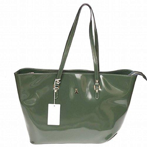 PATRIZIA PEPE, SHOPPING BAG-BOLSO, DARK GREEN-2 V6142-G329 187 /