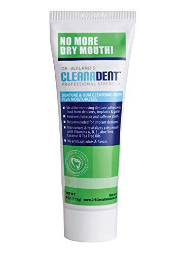 Dr. B Dental Solutions Cleanadent Denture & Gum Paste, Green, 4 Ounce ()