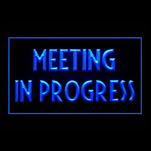 120175 Meeting in Progress Office Guests Quiet Display LED Light ()
