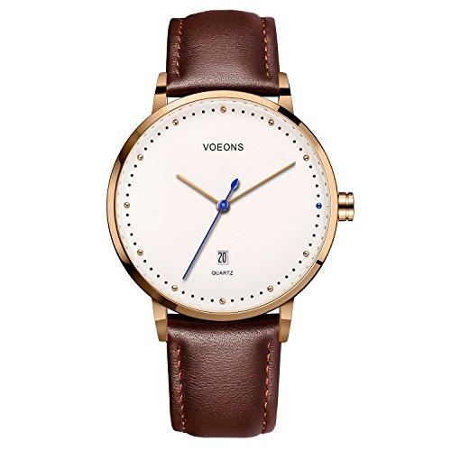 Watch Blue Face Leather Band - 1