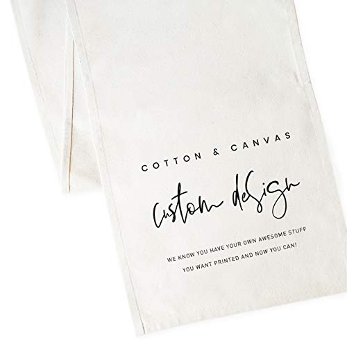- The Cotton & Canvas Co. Custom Table Runner and Holiday Party Decoration, Custom Design, Artwork, Your Logo