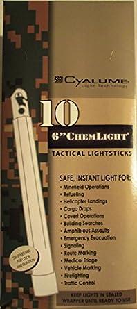 5 x 12 Hr ChemLight Cyalume marcadores