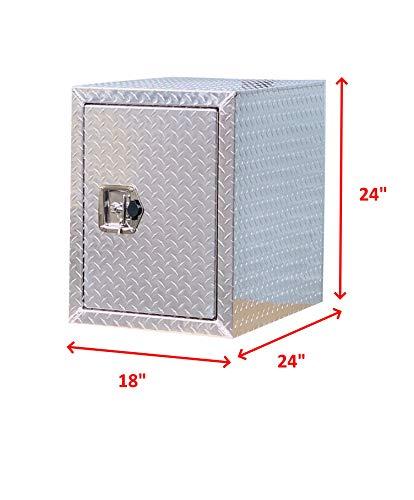 BRAIT Heavy Duty Commercial Grade Aluminum Underbody Truck Tool Box (18x24x24)