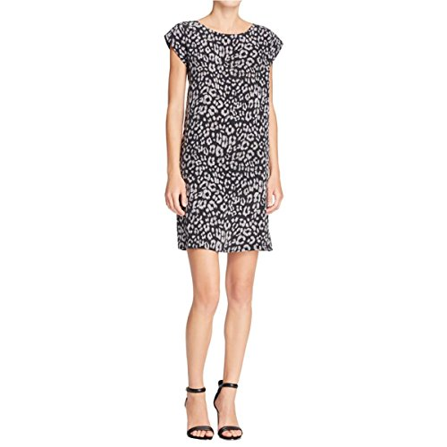 Leopard Print Silk Dress (Joie Womens Weaver Silk Leopard Print Casual Dress Black XS)