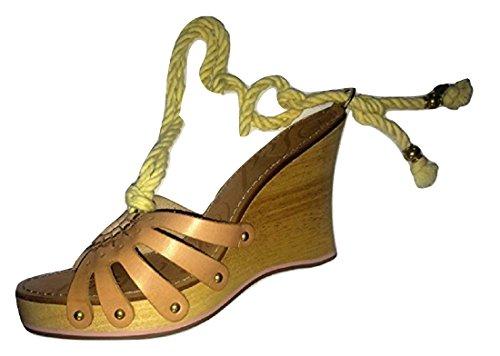 pink Platform Mules Wedge Ankle Ted Natural Tie Baker Heel Iw8SX