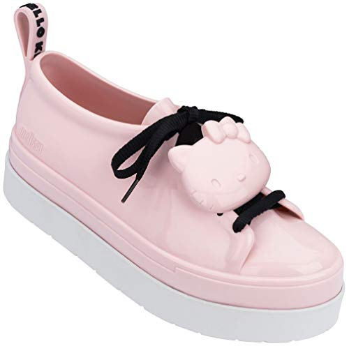 Melissa Womens BE + Hello Kitty Shoe, Pink/White, Size 7