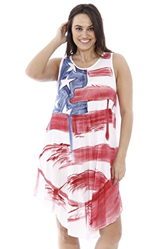 Teen Flag Dress (21513XX Riviera Sun American Flag Dress / USA Plus Size Summer Dresses)