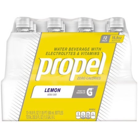 Propel Lemon Zero Calorie Sports Drinking Water with Antioxidant Vitamins C & E 16.9 Ounce Bottles