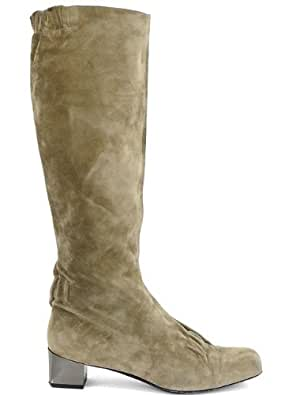 Roger Vivier Boots - Putty Suede Tall Boots Size 38 Excellent conditions
