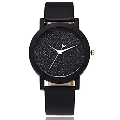 Women Star Watches COOKI Clearance Female Watches on Sale Shinning Lady Watches Cheap Watches Leather Watch-A90