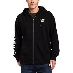 Caterpillar Full-Zip Hooded Sweatshirt, Black, 3X-Large