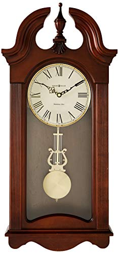 Cherry 466 - Howard Miller Malia Wall Clock with Westminster Chime, Cherry Finish, Quartz Movement