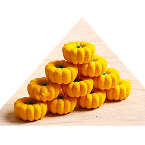Kawaii Cute Cartoon Pumpkin Shape Erasers Random Color Shipping -