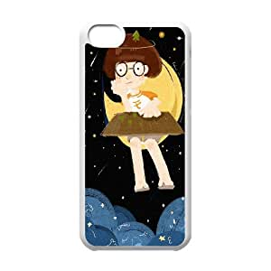 Moon Design Pattern Hard Skin Back Case Cover Potector For Iphone 5C Case HSL424090