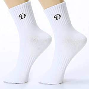 Men's Crew Socks, 6-Pair White Comfort Breathable Cotton Crew Socks for Men, Casual Quarter Socks for Athletic, Running, Hiking