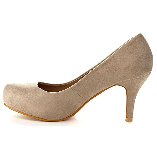 Bella Marie Kylie-1 Womens Classic Styling Comfort Stiletto Heel Dress Pump Taupe UVLsbrFj