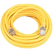 Amazon Lightning Deal 83% claimed: Coleman Cable 01459 14/3-Wire Gauge 100-Feet SJEOW Agricultural Grade Extension Cord (Yellow)