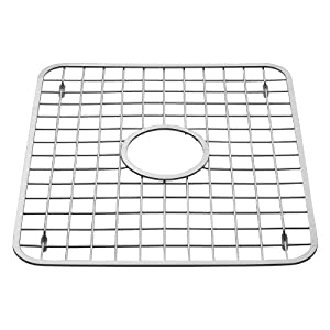 interdesign sink grid with hole polished stainless steel 1275x11 inches - Kitchen Sink Grids