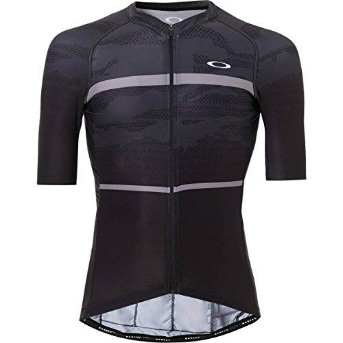 Oakley Men's Jawbreaker Road Jersey Shirts,Large,Blackout (Oakley Bicycle)