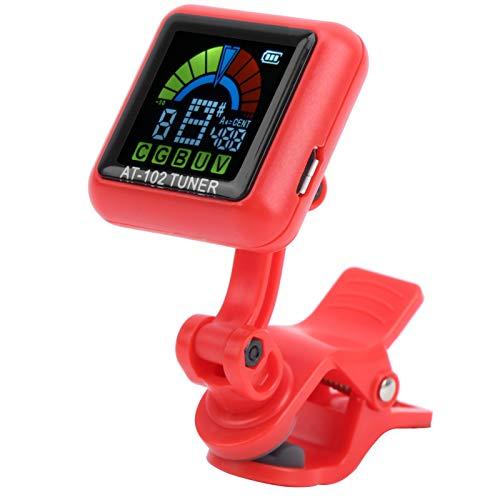 USB-power-cord-Ukulele-Tuner-UCB-DC5V-Guitar-Clip-On-TunerAT-102-red
