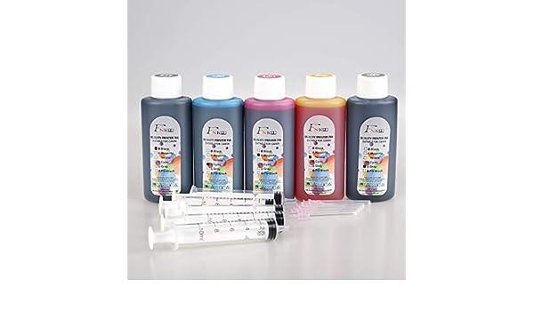 FINK 5 Botellas de Tinta de Calidad Compatible con Canon PG ...