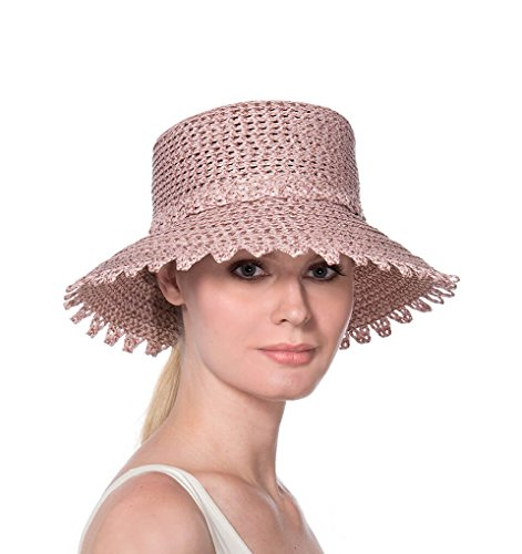 Eric Javits Fashion Designer Women's Headwear Hat - Ibiza - Blush by Eric Javits