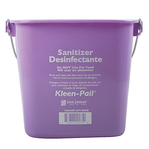 San Jamar KP196PR Kleen-Pail Commercial Cleaning Bucket, 6 Quart, Purple by San Jamar