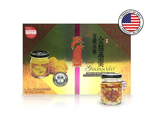 Golden Nest Bird's Gold Nest Soup - Original, Organic Rock Sugar, Gourmet (Nest Organic)