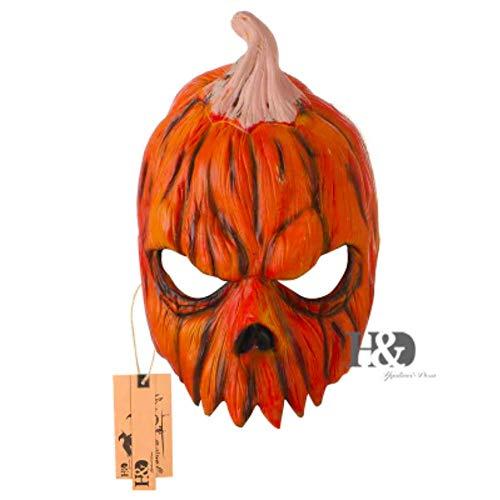Creepy Lifelike Scary Halloween Mask Negan Prosthetic Horned (Nightmare Pumpkin)]()