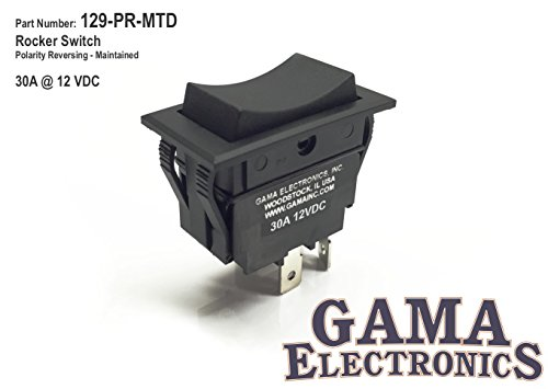 GAMA Electronics Rocker Switch Polarity Reverse Motor Control maintained