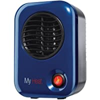 200 Watts Energy MyHeat Personal Mini Ceramic Heater, Overheat Protection, V-0 Safety Plastic, Blue