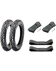 SET 2x VEE RUBBER banden 3,00 x 12 inch VRM 094 43J, richtingsgebonden, slang en velgband voor Simson Roller SR50, SR80