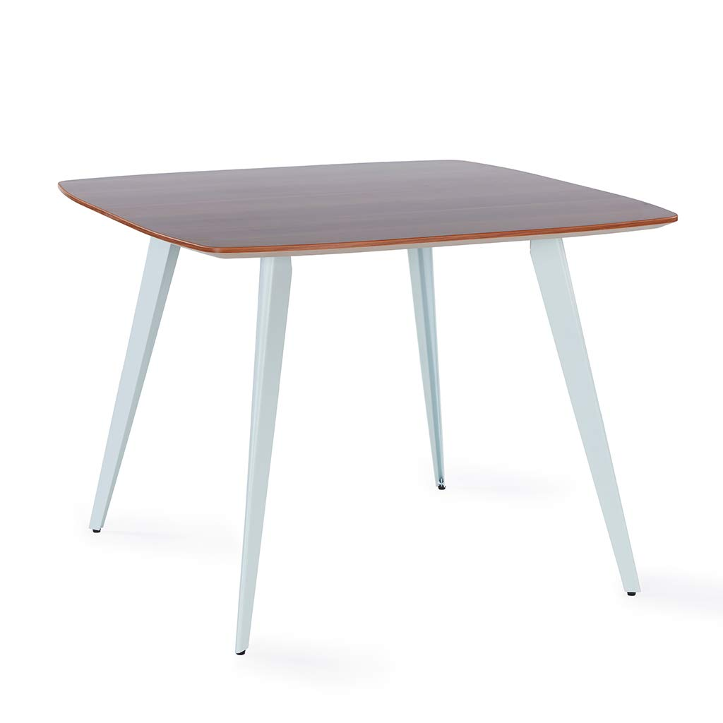 Sunon Spark Small Conference Table With White Steel Leg (Red Apple)