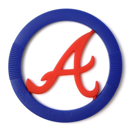 Chewbeads MLB Gameday Teether, 100% Safe Silicone - Atlanta Braves