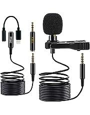 Fibe Micro stropdas iPhone met adapter Lightning iOS Apple microfoon DSLR 3,5 mm Omnidirectionele audio condensator kabel 1,5 m met 2 m verlenging Mic Lavalier voor iPhone iPad